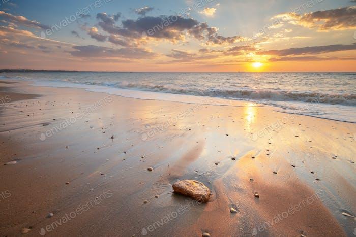 Beautiful seascape sunset.