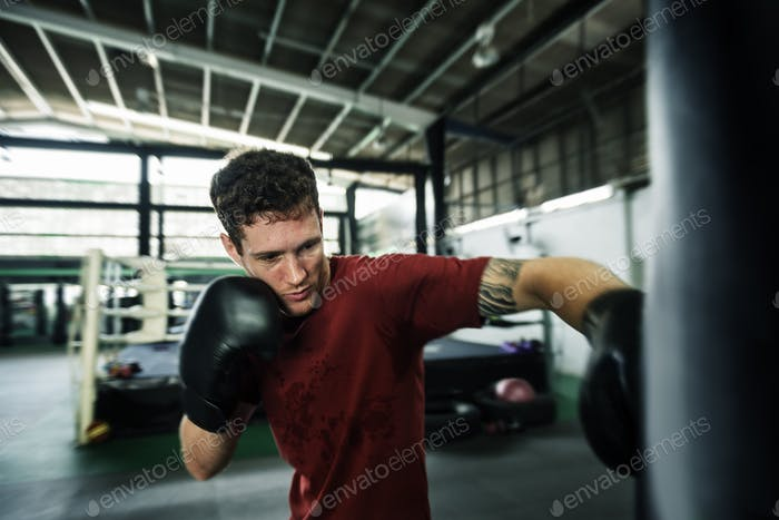 Boxing Challenge Exercise Sport Workout Pratice Concept
