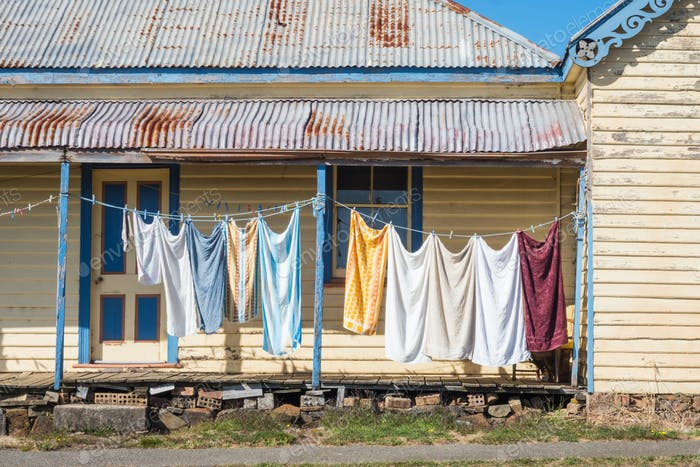 Washing Day in Carrick, Tasmania