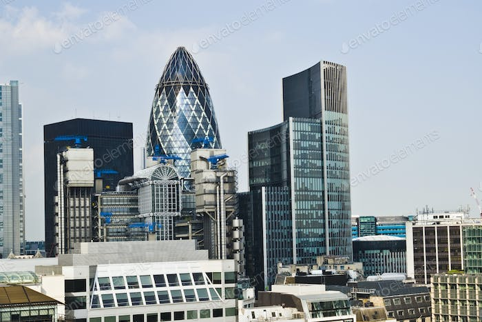 Financial Skyline of London