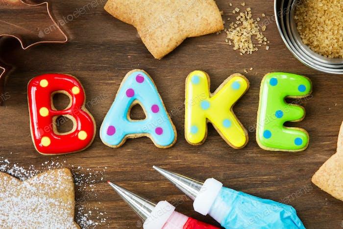 Cookies spellling bake