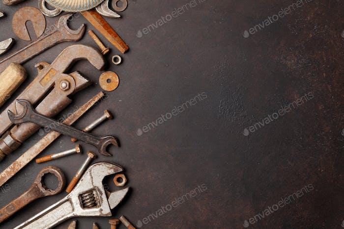 Vintage-Werkzeuge