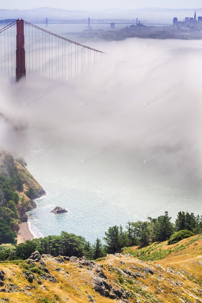 Golden Gate und die Bucht von San Francisco
