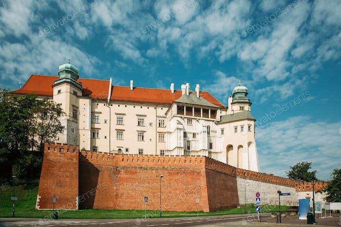 Krakow, Poland. Wawel Castle In Summer Day. Famous Landmark. UNE