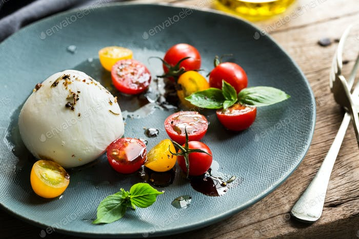 Mozzarella with Cherry Tomato salad