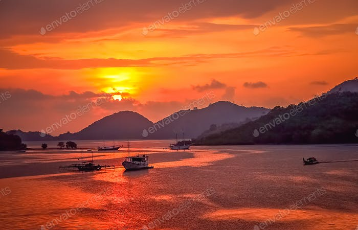 Tropical Sunset in Labuhan Bajo