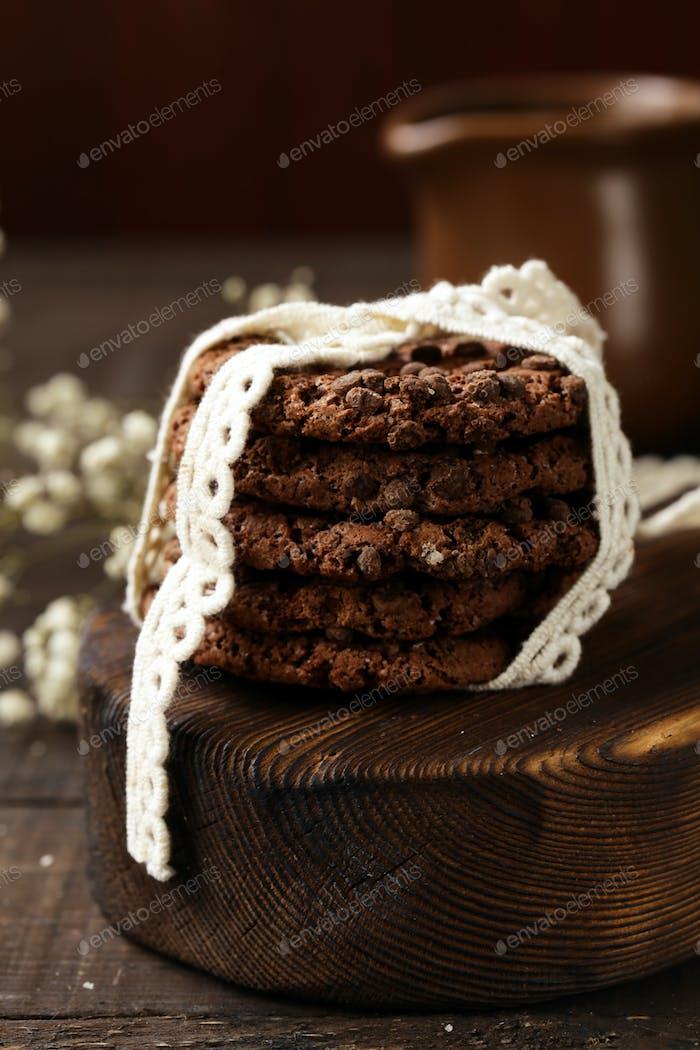 Stapel Schokoladenkekse