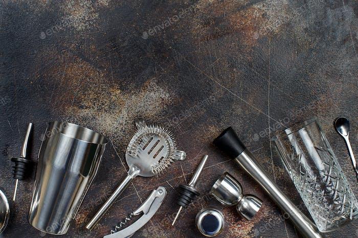 Barkeeper Werkzeuge für die Cocktailherstellung
