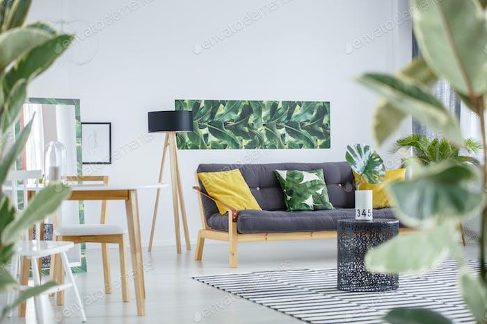 Side angle of living room