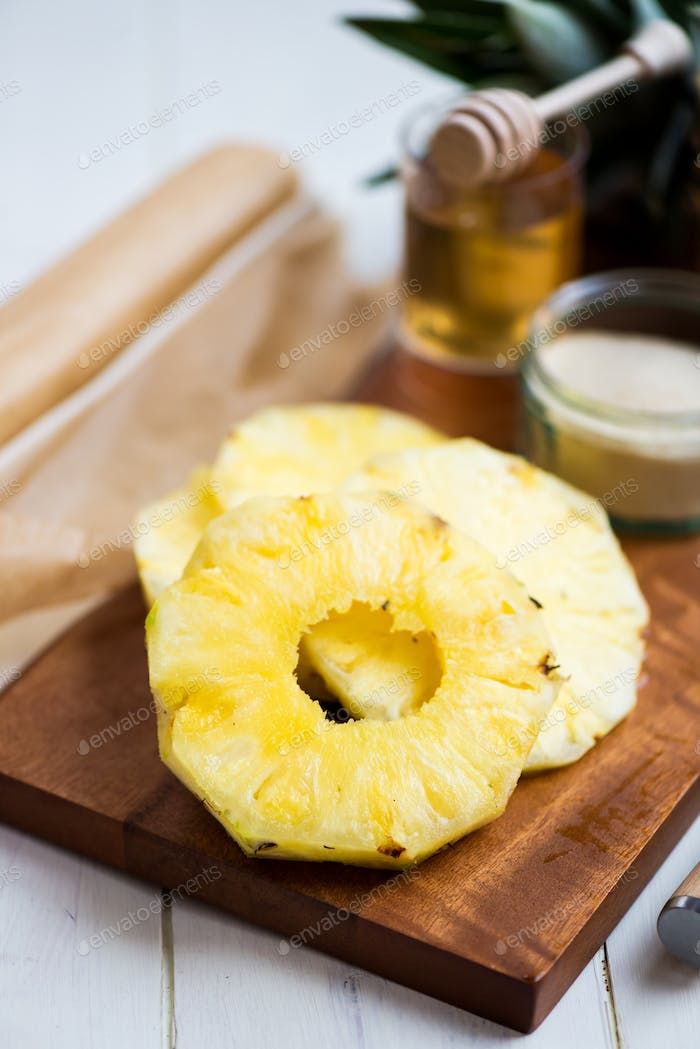 Ingredients for Homemade Honey-glazed Pineapple Tarts