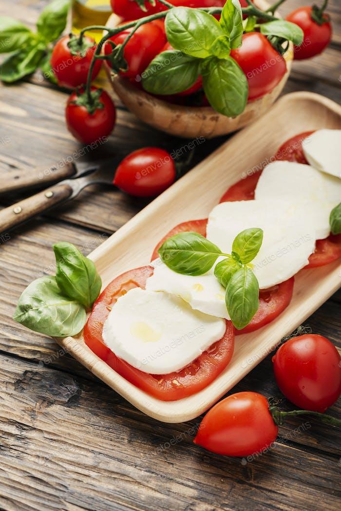 Traditional Italian dish caprese