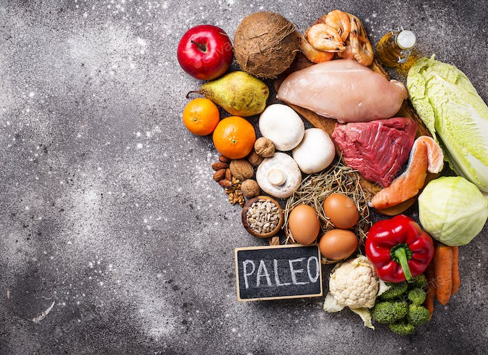 Healthy products for paleo diet