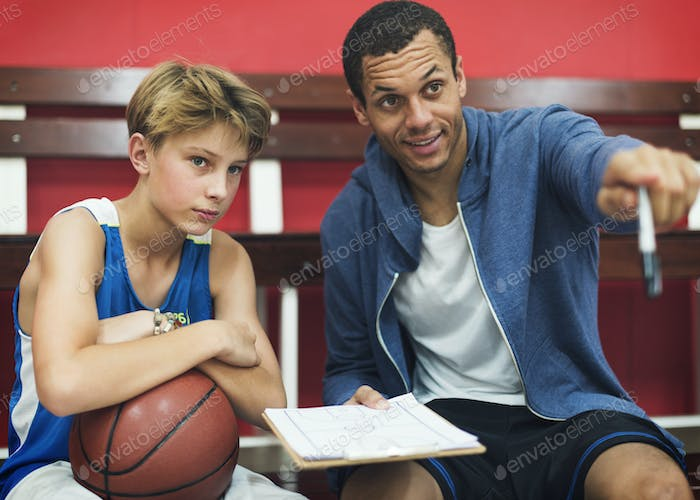 Basketball Player Sport Game Plan Tactics Concept