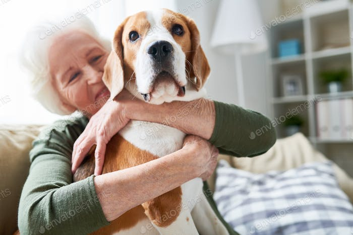 Senior Woman with Loved Pet