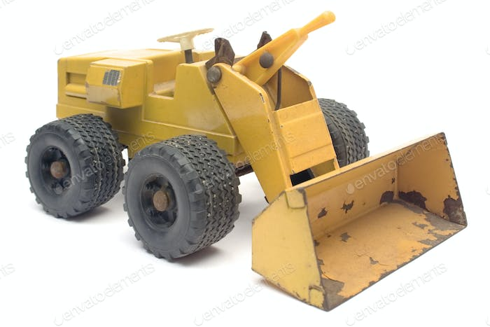 Toy Digger Isolated on a White Background