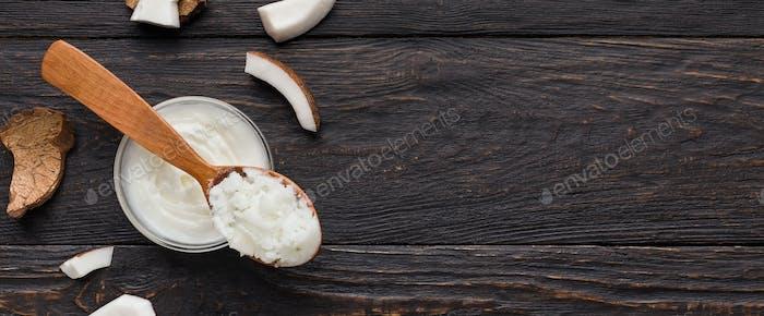 Kokosnuss im kulinarischen Konzept