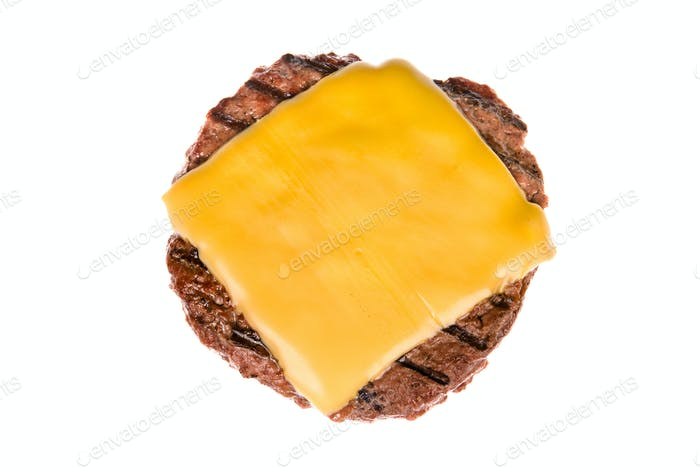 Hamburger patty with cheese