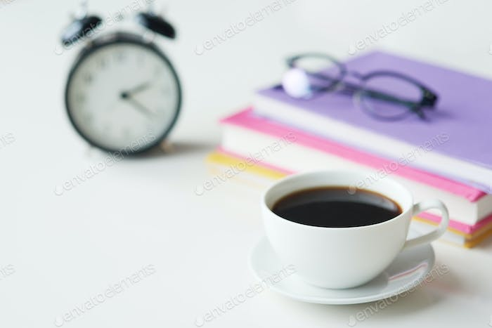 Close up of black coffe on the table