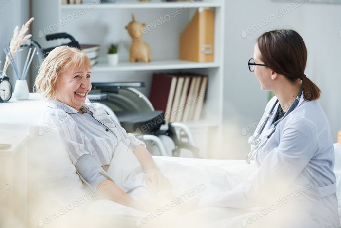 Interacting with nurse