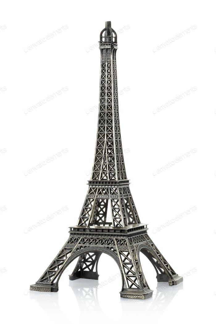 Eiffelturm isoliert auf weißem Hintergrund, Clipping Pfad umfassen