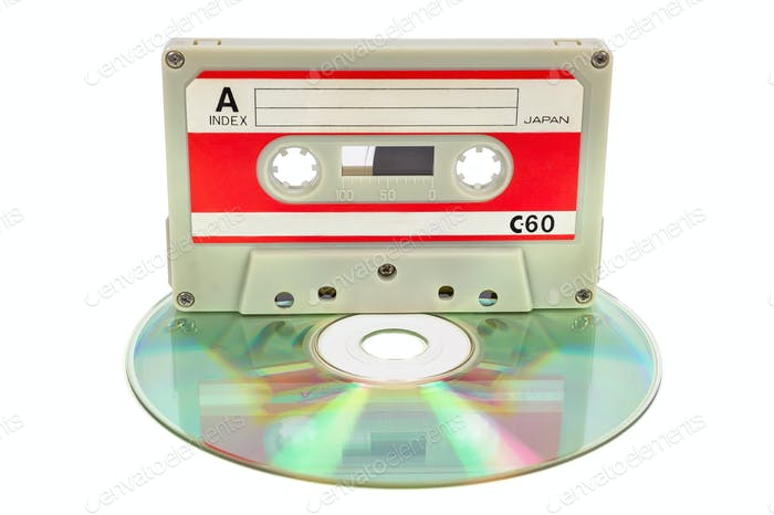Vintage audio tape on CD