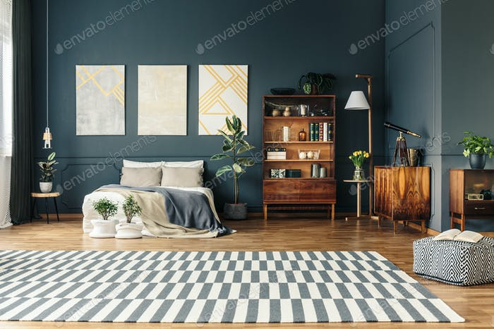 Open room with rug