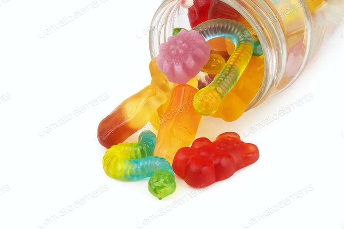 neon gummy candies