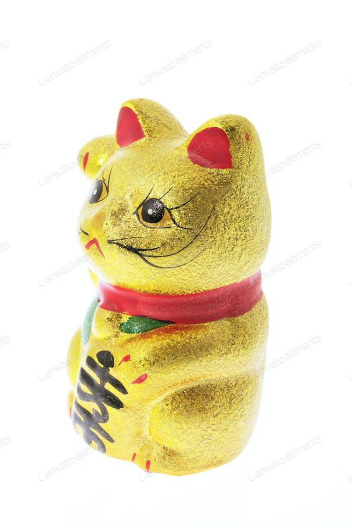 Japanese Lucky Cat Figurine