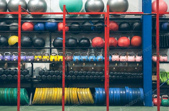 Regale mit Sportausrüstung Indoor