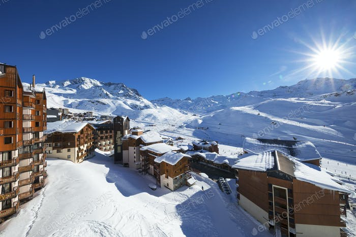 Panorama of Val Thorens