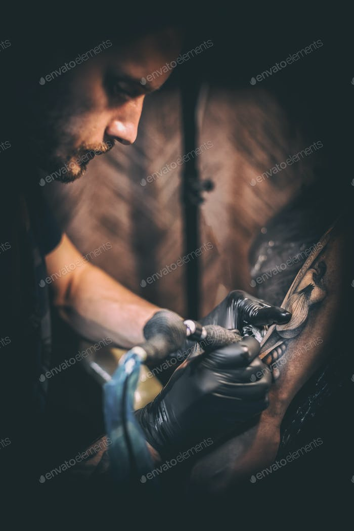 Professional tattooer