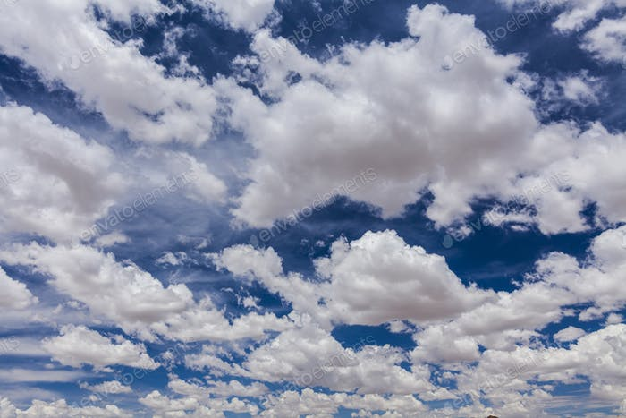 Beautiful white clouds against a blue sky