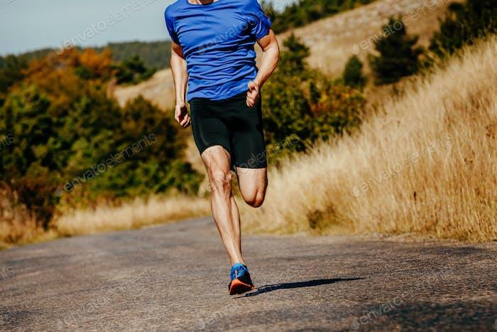 muscular athlete men runner