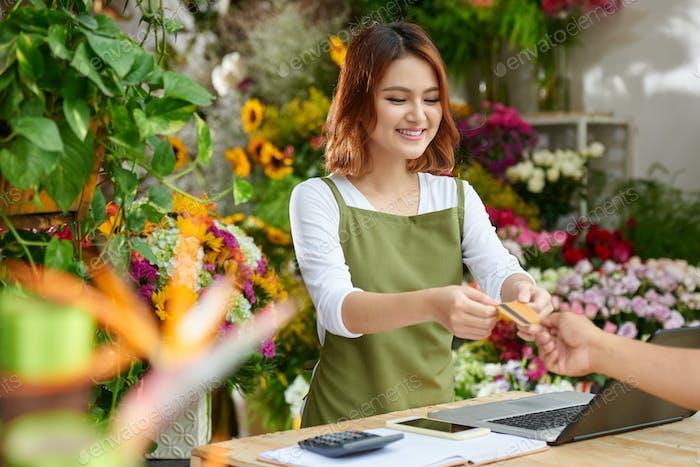 Kundendienst bei Flower Shop