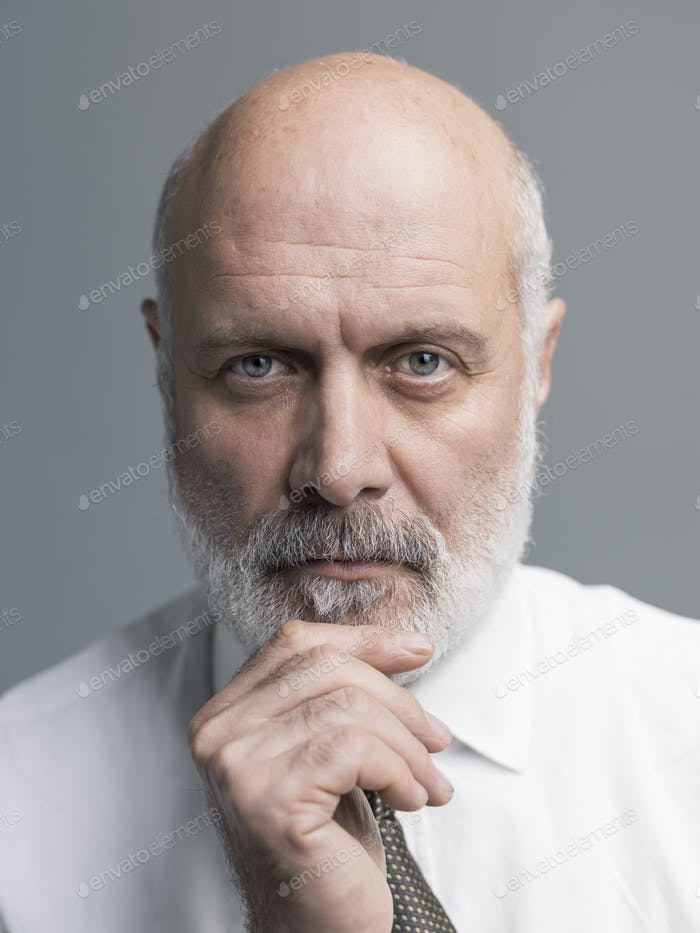 Confident mature man portrait
