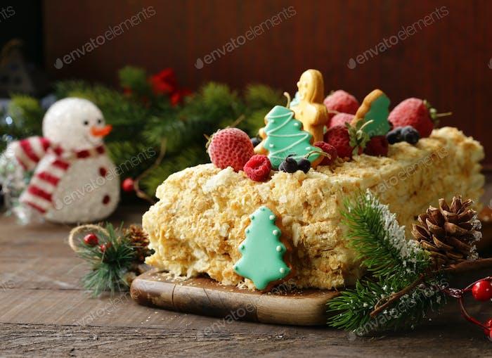 Gingerbread Christmas Cake