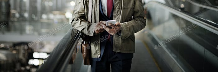 Escalator Businessman Corporate Executive Concept