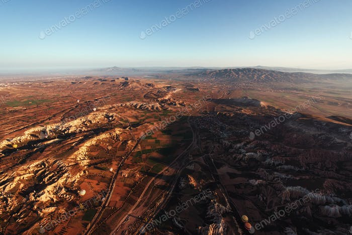 Schönheit geologische Formationen in Kappadokien, Türkei.