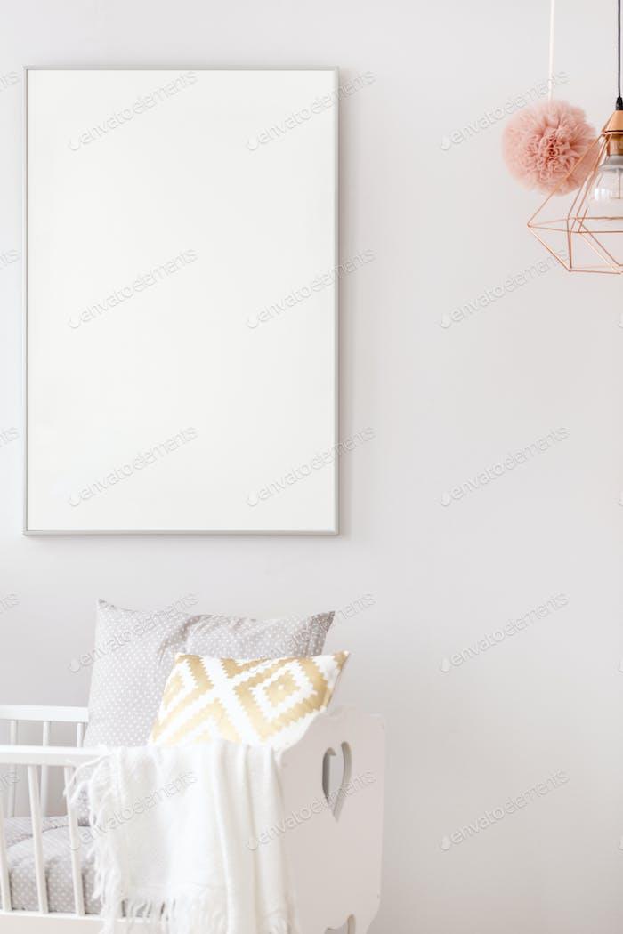 Newborn bedroom with cradle