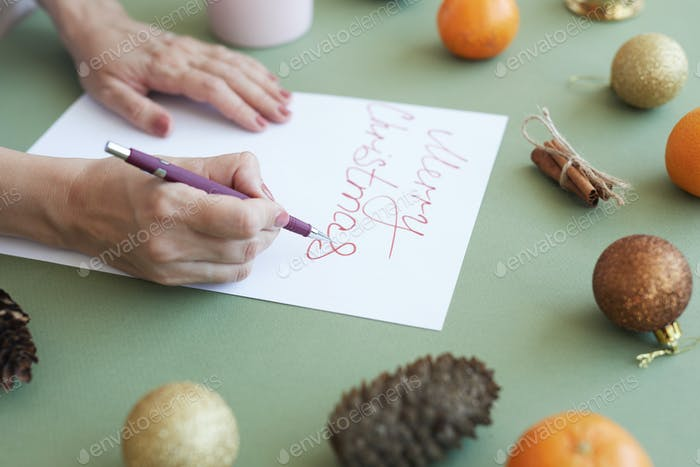 Making lettering for Christmas card