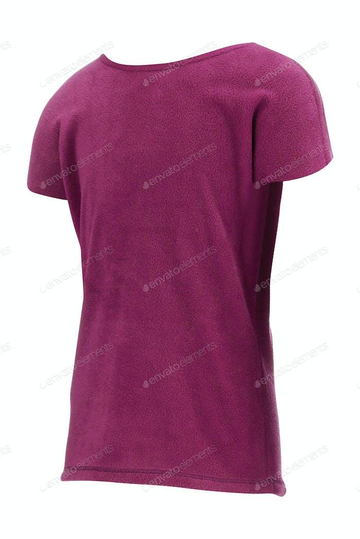 purple shirt isolated on white