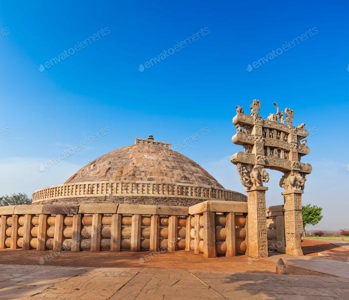 Great Stupa. Sanchi, Madhya Pradesh, India
