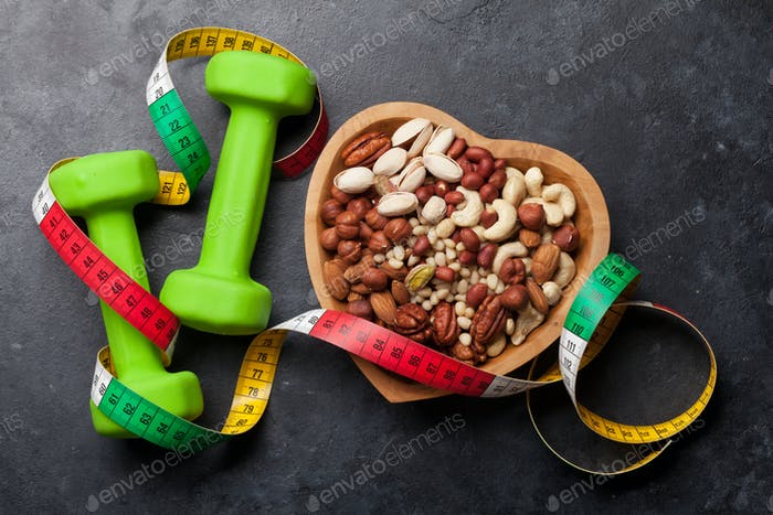 Healthy food concept. Nuts