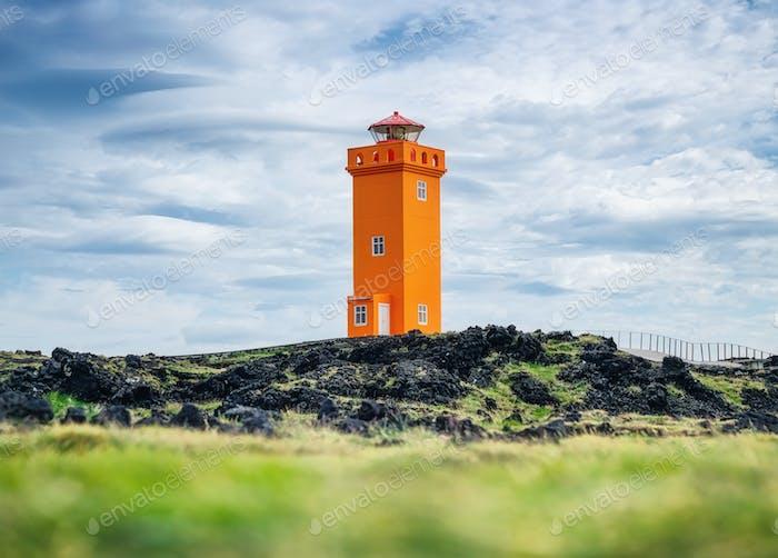 Leuchtturm in Island