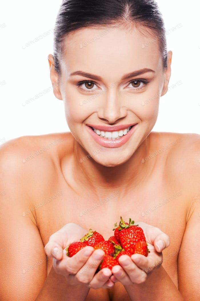 Ein Erdbeer-Angebot.