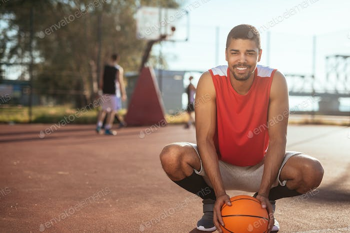 Successful basketball player