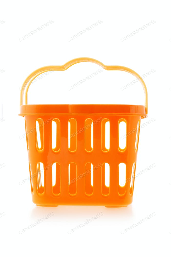 Orange plastic basket