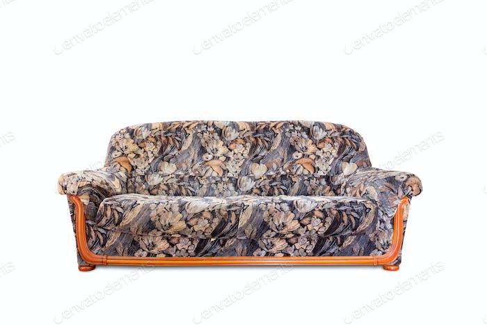 Luxuriöses Sofa isoliert auf weißem Hintergrund
