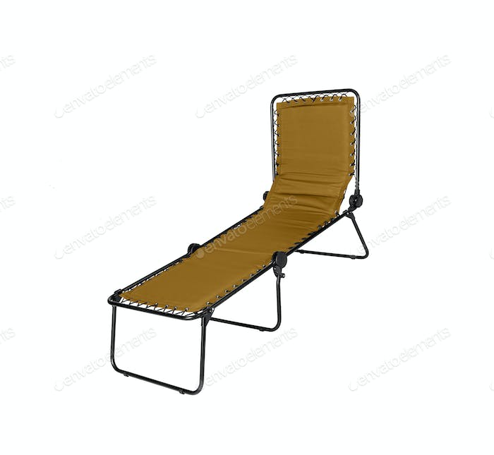Yellow lounger isolated on white