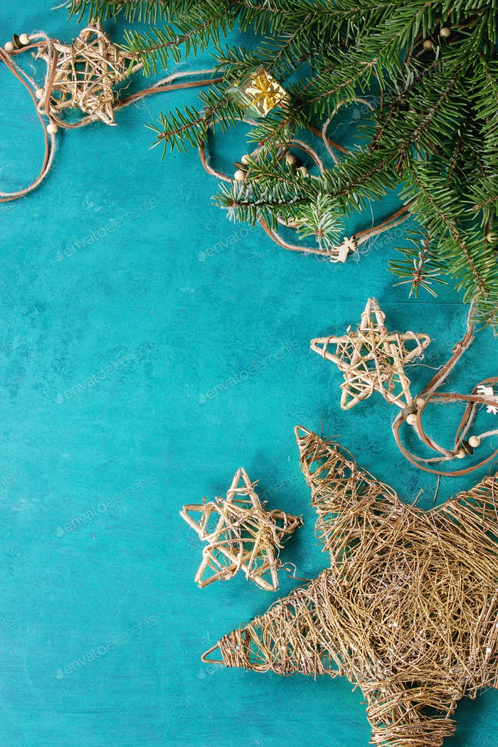 Christmas holiday turquoise background